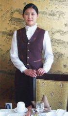 酒店服务员职业装图片