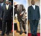 乌干达总统穆塞韦尼,喜爱穿西装。固然体型有点胖,但西服也算合身,穿起来还是相当肉体的。