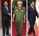"""缅甸指导人丹瑞经过数十年终究脱掉了军装。这是为了在近日公布移交权益后于11月以官方人参与选举。胸前的一个个勋章,展现了典型的专制者""""闪亮""""造型。"""