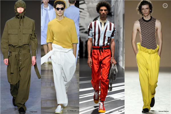 2019春夏男装流行款式预测 男士裤装