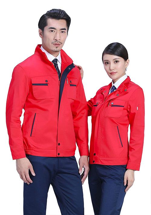 北京定制工程工作服之石油工作服=红色吗