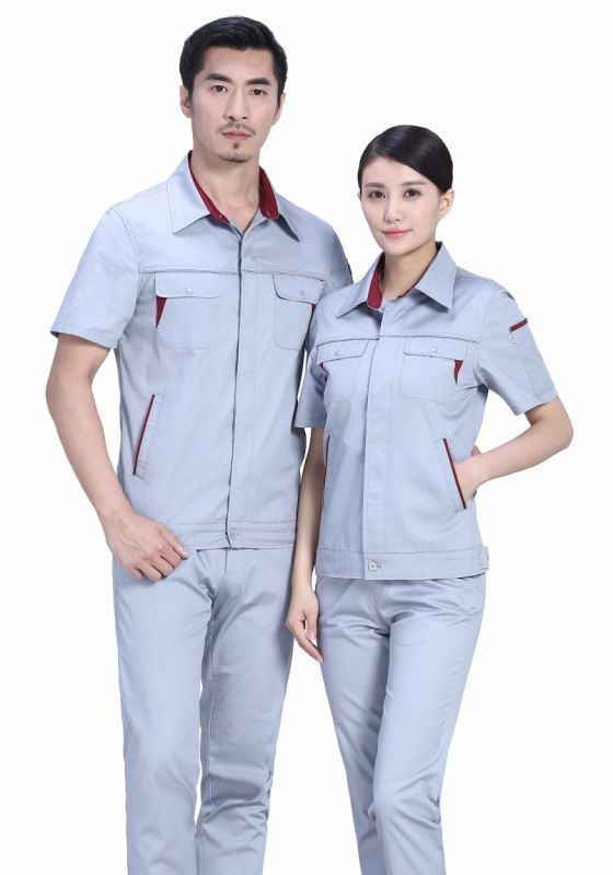 为什么选择全棉面料定做套装短袖工作服?
