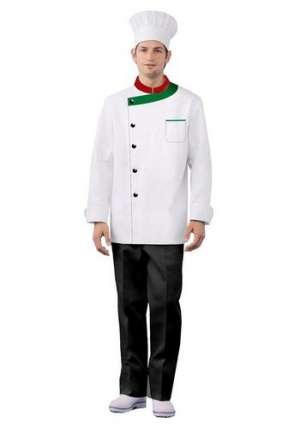 中、西餐厅的厨师服设计特点及区别